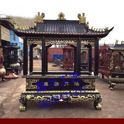 香炉生产铸造  鑫兰香炉雕塑厂家  单层长方形铁香炉