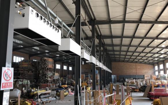 工廠車間4400平米空調項目