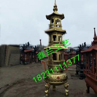 厂家直销寺庙铸铁香炉 供应寺庙大型铸铁香炉 寺庙二层圆形宝鼎