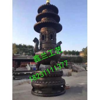 寺庙铸铁1米大香炉 双龙铜铸香炉 长方平口四足宝鼎香炉 长方形多层香炉