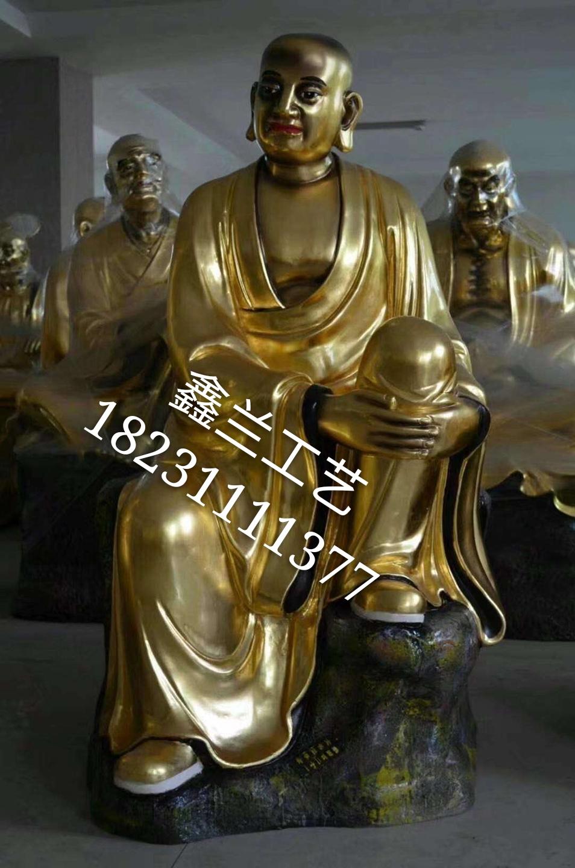 寺庙专业十八罗汉铜雕 1米铜雕十八罗汉 鑫兰铸铜十八罗汉佛像厂家