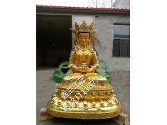 藏传密宗长寿佛铜佛像琉璃佛像长寿佛藏传佛教密宗佛像琉璃贴金长寿佛