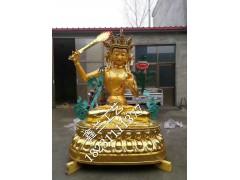 文殊菩萨铜佛像,举剑文殊铜造像殊菩萨石雕造像藏传文殊菩萨银像