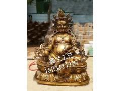 尼泊尔黄财神铜像价格 铜雕鎏金黄财神-仿古黄财神铜像定做批发