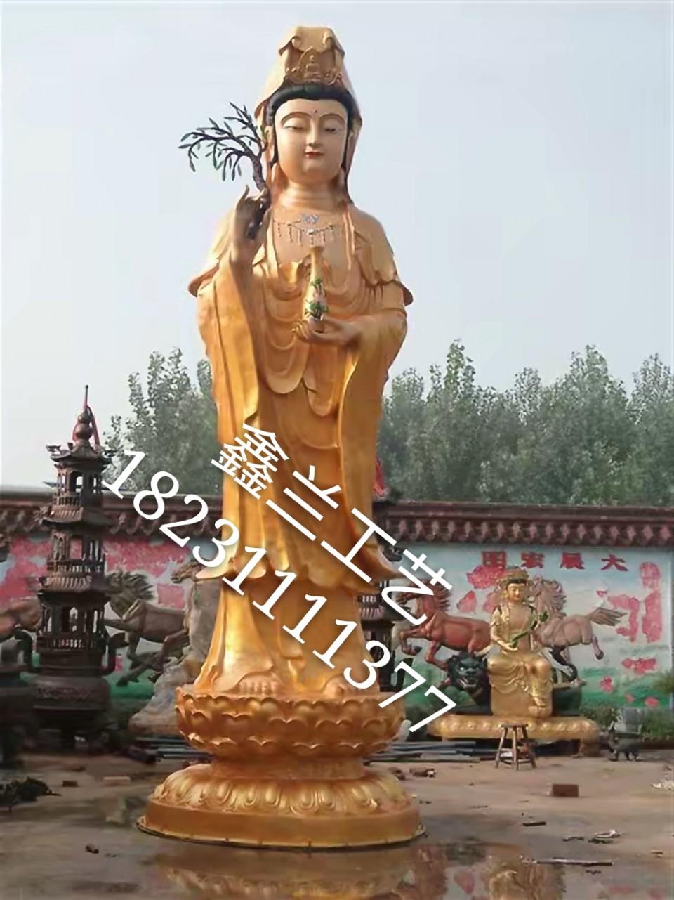 千手观音铜雕雕塑是比较神话的雕塑