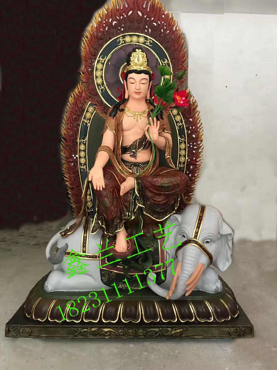 铜雕普贤菩萨像、铜像大行普贤菩萨雕塑