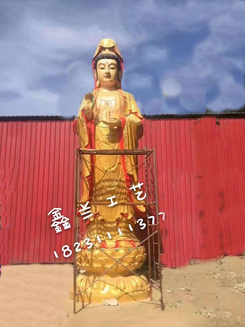 铜雕佛像_观音菩萨雕像_铜雕户外大型观世音菩萨_唐县鑫兰铜雕厂
