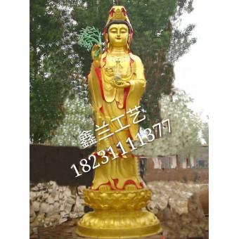 大型铜佛像 立式观音菩萨、铜雕铜雕观音佛像价格