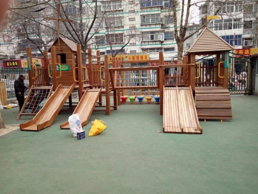 深州幼儿园木质滑梯