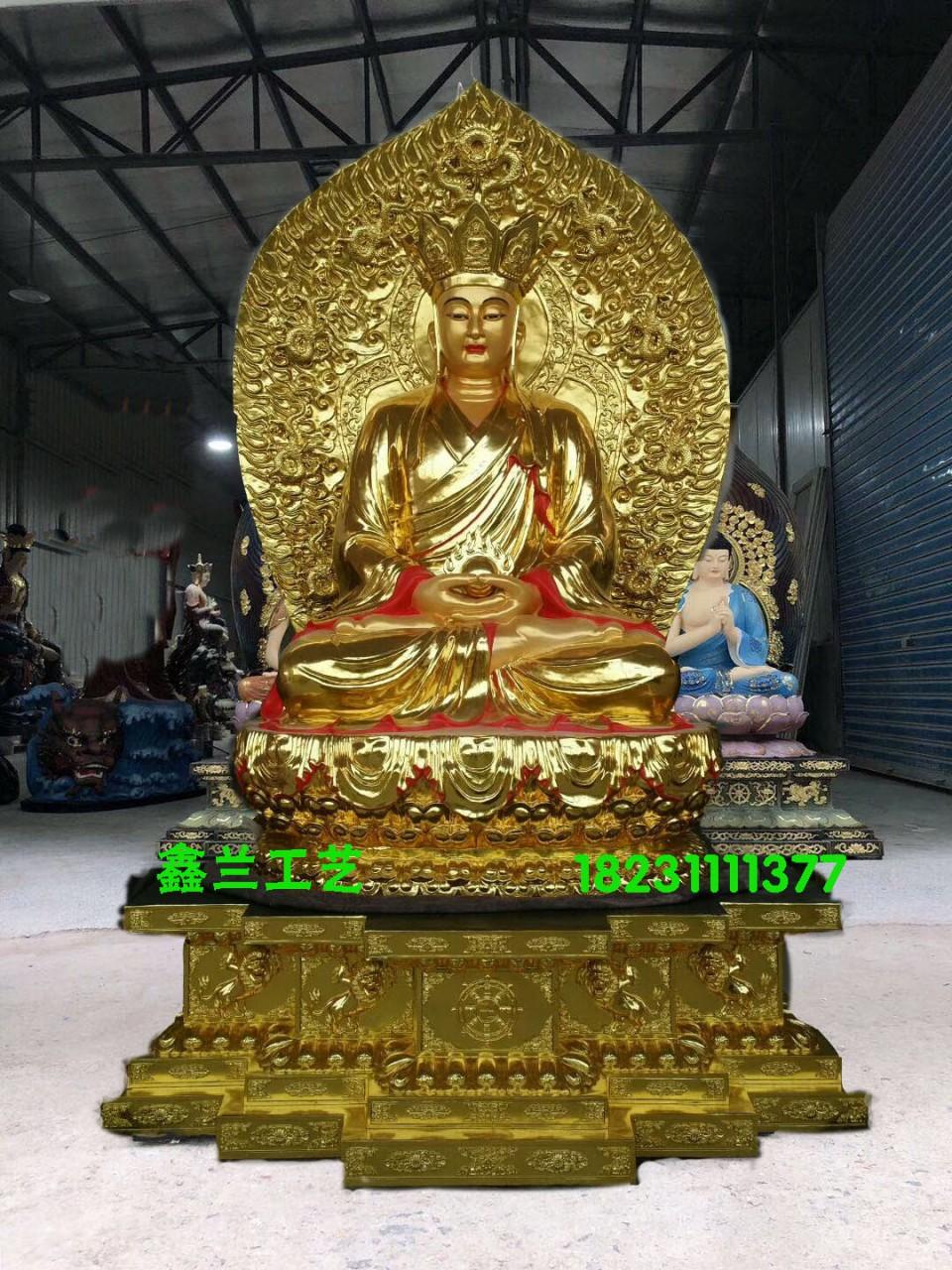 地藏王菩萨铜佛像、定做贴金铜佛像厂家-鑫兰铜雕