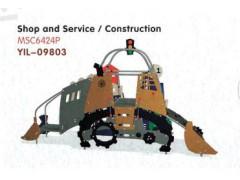 河北幼儿园设施厂家YIL-09803PE板滑梯