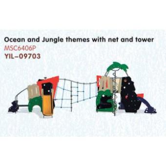PE版儿童滑梯。YIL-09703