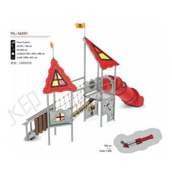 呼和浩特PE板滑梯组合批发YIL-16201