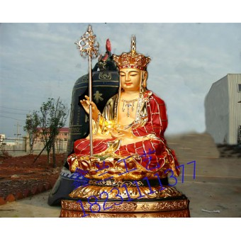 铜雕地藏菩萨站立图片-鑫兰雕塑厂家-新疆铜雕地藏铜雕地藏王菩萨厂家