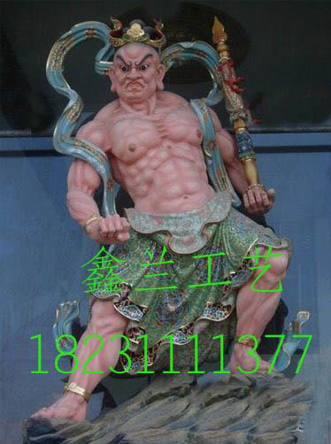 金铜站像哼哈二将神像 护法神像哼哈二将 哼哈二将铜雕神像