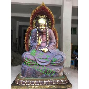 金铜雕塑达摩祖师铜雕铸造达摩祖师的典故之玻璃钢达摩