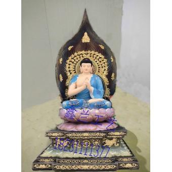 金铜铸造释迦牟尼佛玻璃钢彩绘如来佛玻璃钢如来佛祖