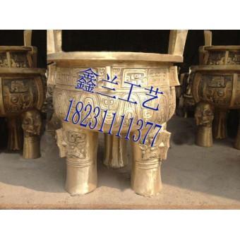 铜鼎厂家青铜鼎雕塑司母戊鼎铜鼎价格铜鼎制作玻璃钢大克鼎
