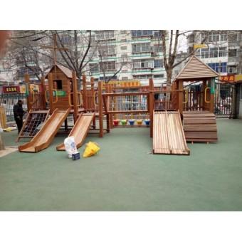 藁城幼儿园木质组合滑梯