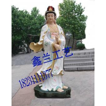铸铜白衣观世音菩萨白衣观音雕塑金铜佛造像由河北鑫兰铜雕有限公司提供
