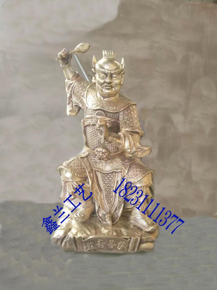 铸铜伽蓝菩萨彩绘监斋菩萨铜雕像藏传佛像活佛转世之先