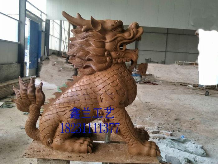 铜雕动物麒麟摆件 铜雕麒麟雕塑产品河北鑫兰工艺雕塑铸造寺庙大型佛像