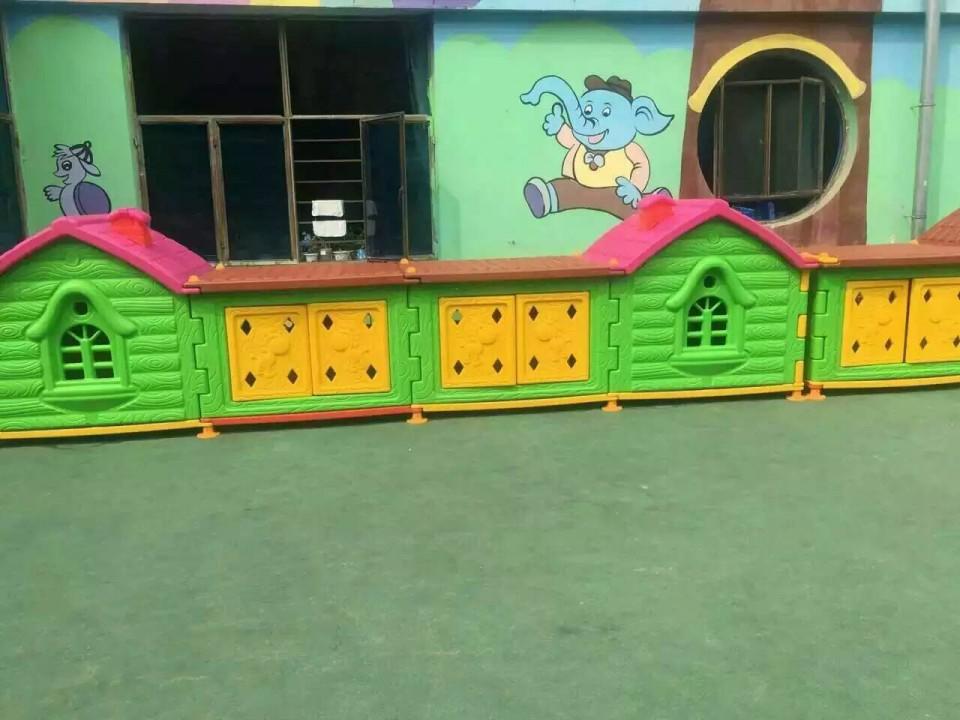 巨鹿幼儿园户外玩具收纳柜