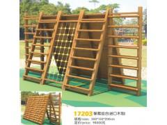 河北石家庄幼儿园实木攀爬架设施17203