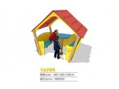 温州角色扮演小屋   娃娃家小屋  塑料游戏小屋   实木小屋16704