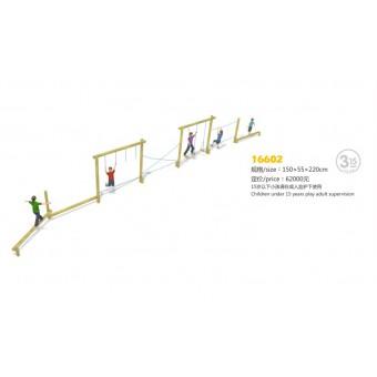 温州户外实木儿童幼儿园攀爬组合