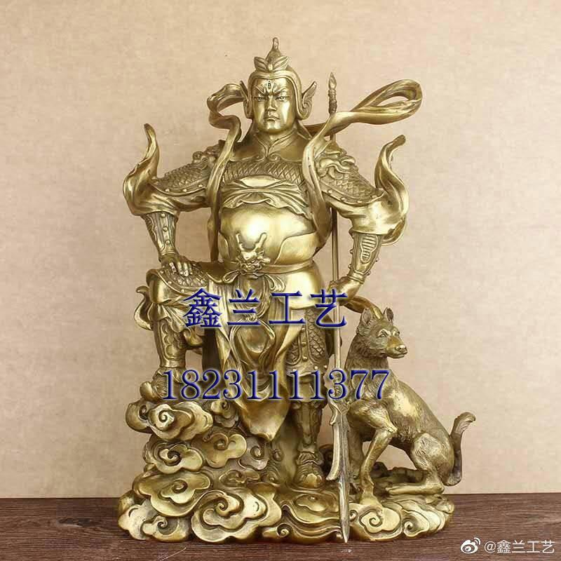 制作佛像铜雕铜雕佛像杨戬玻璃钢像 二郎神 二郎真君神像