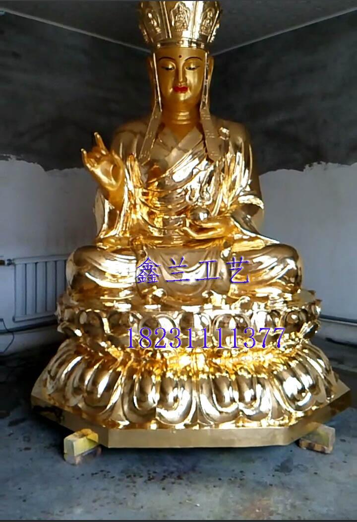 铜雕地藏菩萨站立图片-鑫兰雕塑大型铜香炉,铜香炉厂家