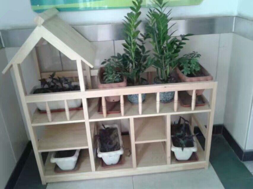 平山幼儿园木制花架
