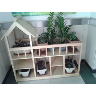 辛集幼儿园木制花架