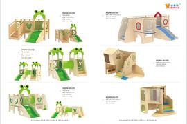 2020木制新品-室内组合滑梯3
