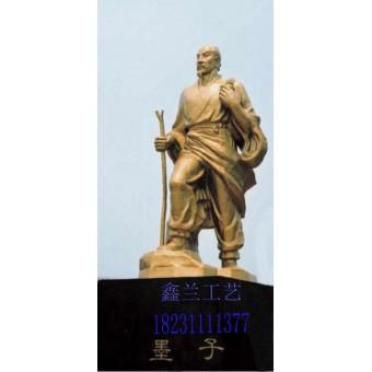 铜雕雕塑墨子石雕园林景观街头主题性雕塑顾名思义