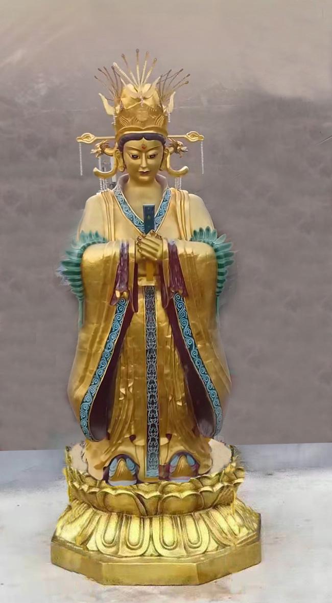 铜雕佛像铸铜九天玄女玻璃钢三霞娘娘