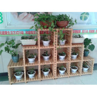 广平幼儿园木制花架