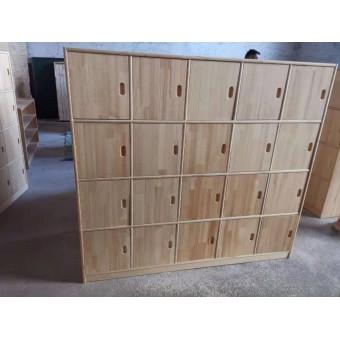 灵寿幼儿园木制书包柜