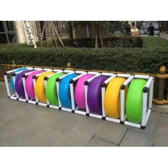 平山幼儿园彩色轮胎架